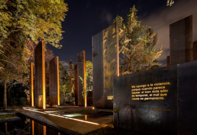 "Architectural Lighting Design: ""Memorial to the Victims of Violence in Mexico"", Mexico City 