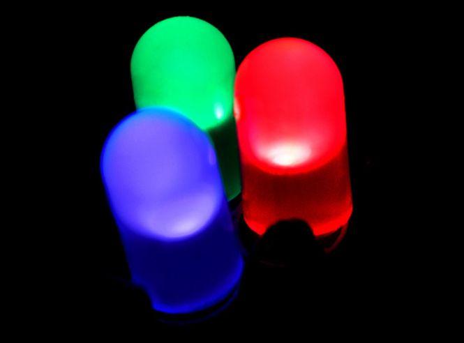 RBG LEDs. Credits: Wikimedia Commons