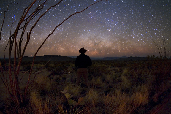 The Milky Way rises above Big Bend International Dark Sky Park, Texas, USA. Credits: Tyler Nordgren