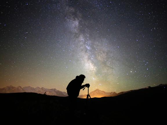 A photographer captures the Milky Way over the town of Aulon, Pic du Midi International Dark Sky Reserve, France. Credits: Nicolas Bourgeois/Pic du Midi/Université de Pau et des Pays de l'Adour
