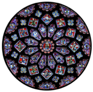 Notre-Dame de Paris windows. Their rich colors are due to nanoparticles and other metal oxides and chlorides.