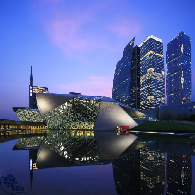 Guangzhou Opera House Lighting. Credits: AALD