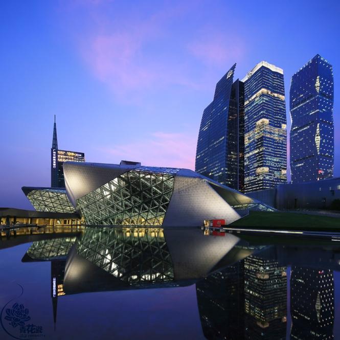 Guangzhou Opera House Lighting. Credits: AALD