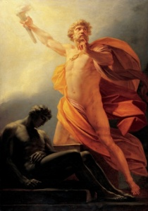 Prometheus Brings Fire by Heinrich Friedrich Füger. Credits: Wikimedia Commons.