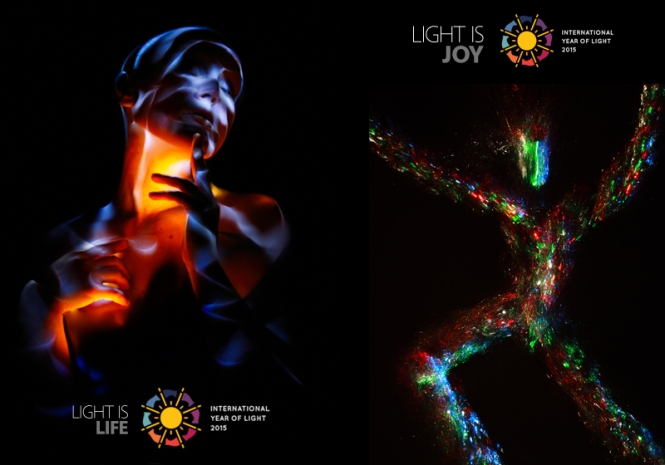 Left image: Light is Life. Credits: HoryMa. Right image: Light is Joy. Credits: Miedza LightArt Photography.