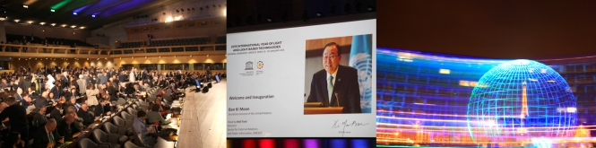 Different moments during the IYL 2015 Opening Ceremony held on 19-20 January at UNESCO HQ in Paris. Credits: LPWA