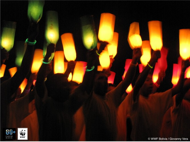 Earth Hour in Bolivia. Credit: WWF Bolivia / Giovanny Vera