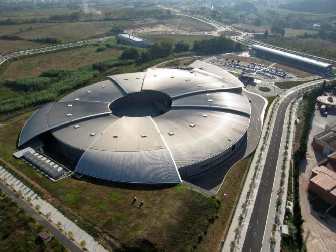 Aerial view of the ALBA Synchrotron, located in Cerdanyola del Vallès (Barcelona). Credit: ALBA