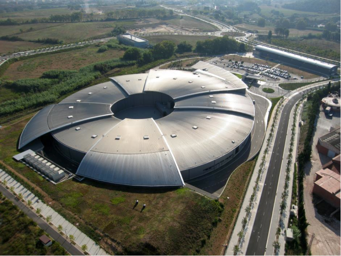 Aerial view of the ALBA Synchrotron, located in Cerdanyola del Vallès (Barcelona). Credit: ALBA