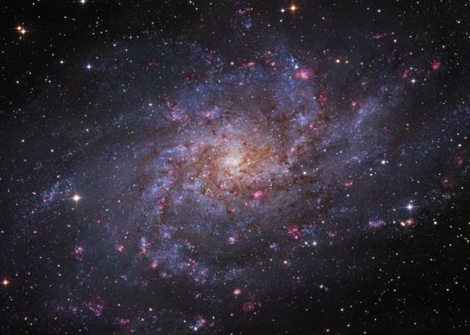 M33, the Triangulum Galaxy. Credit: Robert Gendler, Subaru Telescope (NAOJ). Image data: Subaru Telescope, Robert Gendler, Brigham Young University Obs., Johannes Schedler. http://apod.nasa.gov/apod/ap121220.html