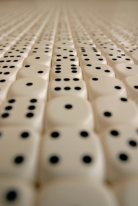 Random dice arranged in an endless pattern. Credit: Thinkstock.