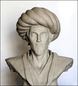Bust of Ibn Al Haytham.