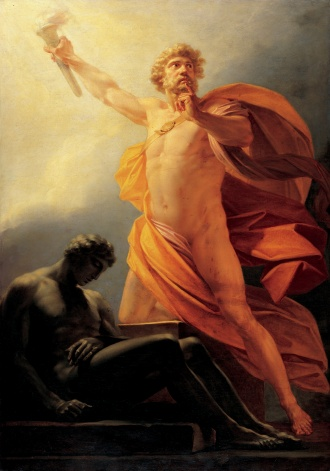 Prometheus Brings Fire. Credit: Heinrich Friedrich Füger.