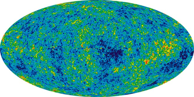 Caption: All sky map of the CMB made with NASA's WMAP (left; first published in 2003), and ESA's Planck (right; first published in 2013). Credits: NASA / WMAP Science Team (left); ESA and the Planck collaboration (right).