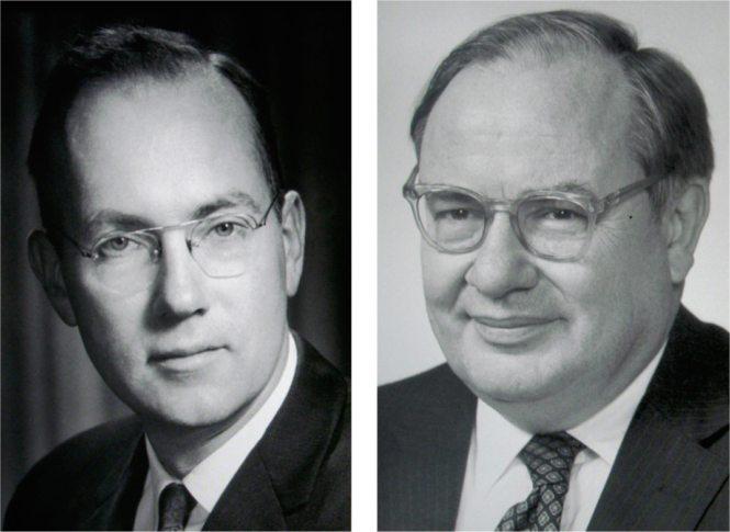 Charles H. Townes (1915-2015) and Arthur Leonard Schwalow (1921-1999). Nobel Museum, Stockholm. Credit: A. Beléndez.