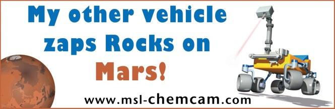 ChemCam bumper sticker. Credit: NASA