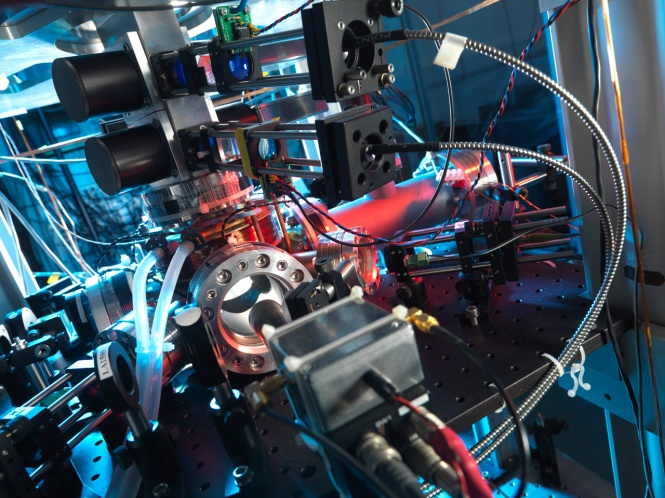 UK National Physical Laboratory cesium fountain clock. Credit: National Physical Laboratory, United Kingdom