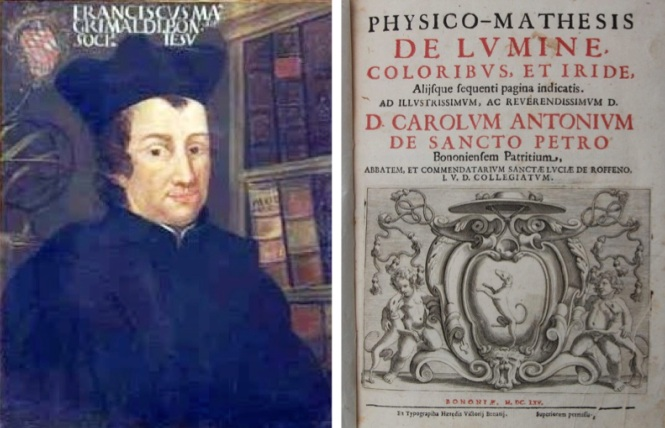 Francesco Maria Grimaldi published the treatise titled Physicomathesis de lumine, coloribus, et iride, aliisque annexis. Credit: Wikipedia.