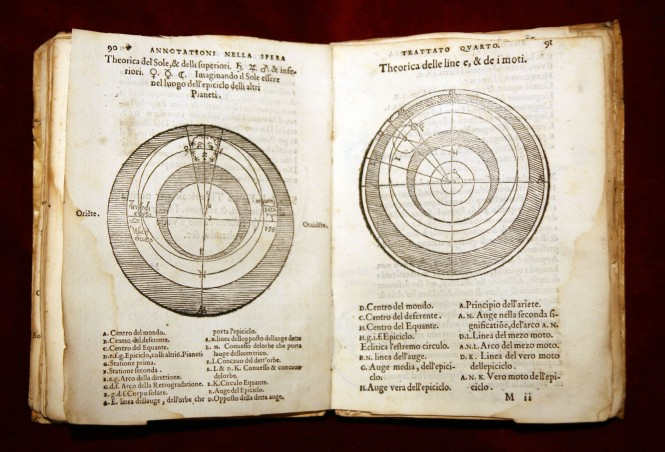 Annotazione on Sacrobosco's Tractatus de Sphaera (dating to 1550), showing the Ptolemaic system. Credit: Wikimedia Commons.