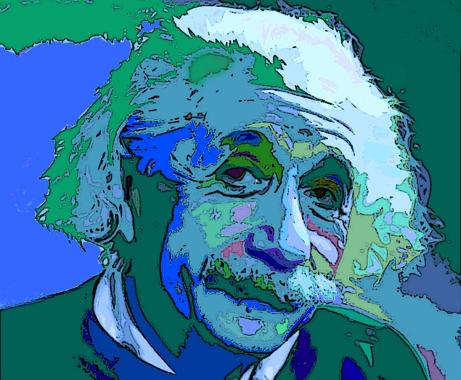 Pop Art portrait of Albert Einstein. Credit: Mark Hom.