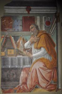 'Saint Agostino's study' by Sandro Botticelli.