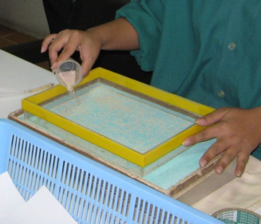 roducing a paper sheet of silkworm eggs which is estimated by weighting method. Credit: The Queen Sirikit Department of Sericulture (Saraburi province, Thailand).