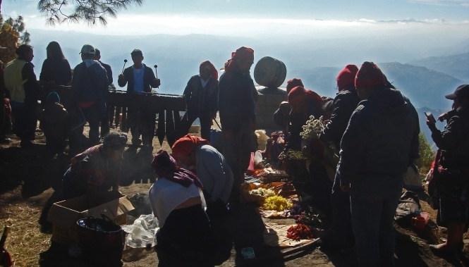 Winter Solstice Mayan ceremony. Credit: David Marín.