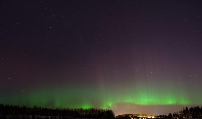 Northern lights in Jyväskylä. Credit: Atacan Ergin.