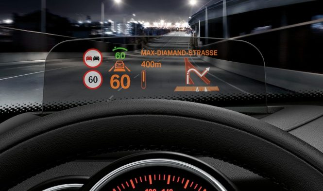 Head-Up Display for a better, safer driving experience. Credit:  www.mini.co.uk.