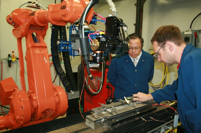 5.2 kW fiber laser welding system with ABB robot. Credit: NRC.