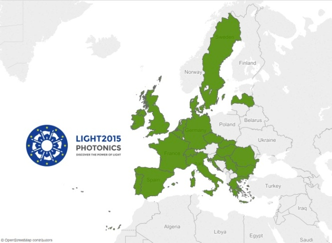 Countries reached by the LIGHT2015 project so far. Credit: LIGHT2015 Project.