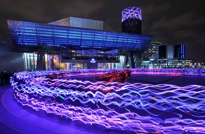 Speed Of Light - Salford by NVA. Credit: Alan McAteer Photography.