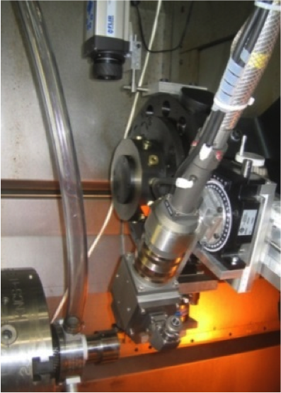 Laser-assisted machining at NRC. Credit: NRC.