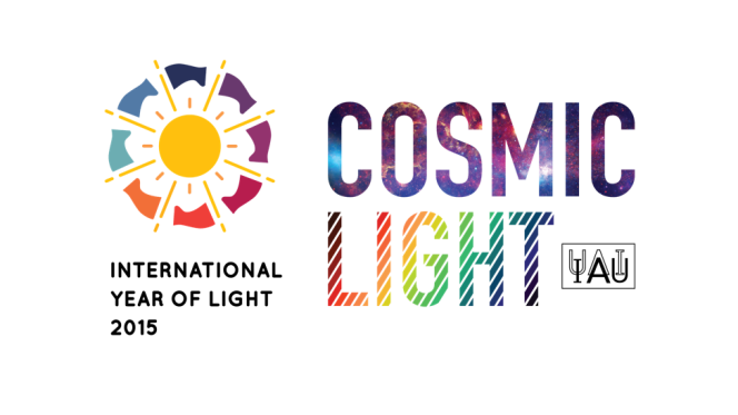 Logo for the Cosmic Light program - an International Astronomical Union project within the framework of International Year of Light 2015.