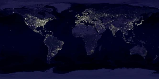 Visible Earth, Night Lights. Credit: NASA.