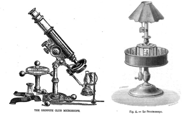 The telescope and the praxinoscope.