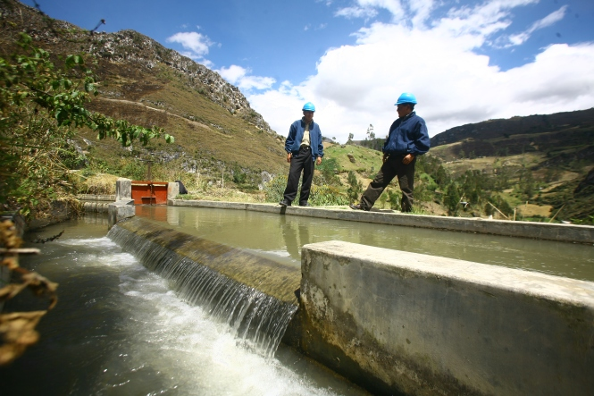 Micro-hydro plant, Peru. Credit: Practical Action.