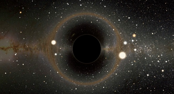 Black hole, a simulated view. Credit: Alain Riazuelo/LookatSciences.