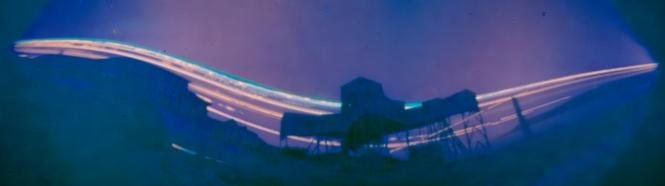 Longyearbyen Taubanesentralen, exposure time 2 months. Credit: Udo Prinsen.