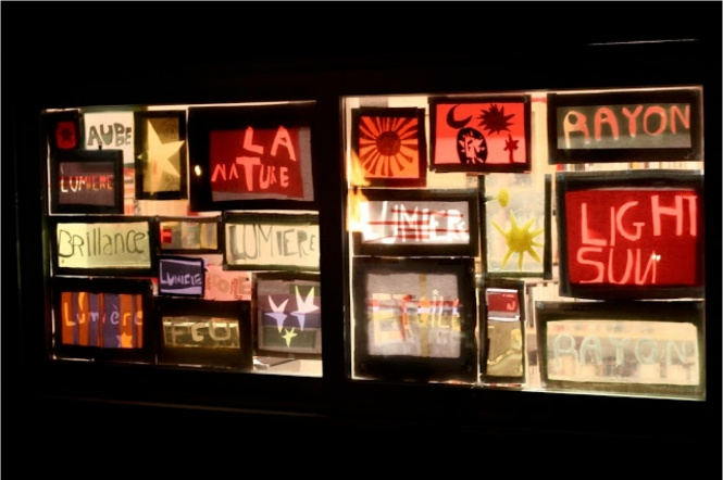 Work created by school children on subject of light during special ateliers. Credit: Anton Greefhorst.
