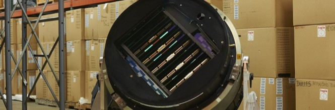 The SDSS Camera, now in storage in the Smithsonian Museum. Credit: SDSS, Xavier Poultney.