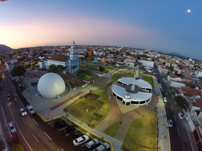 Sobral square where the solar eclipse was observed in May 29, 1919. Museum of the Eclipse and the new Sobral Planetary. Credit: Assessoria de Comunicação – Prefeitura de Sobral.