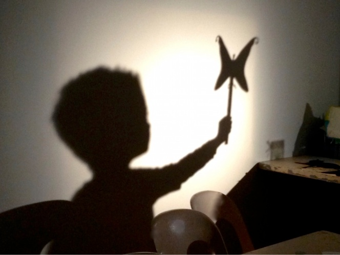 Silhouettes made by children during special ateliers. Credit: Peter Eatherley.