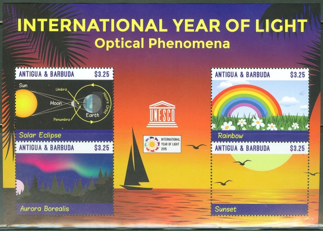 IYL 2015 commemorative stamps from Antigua and Barbuda.